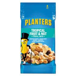 Planters® Trail Mix, Tropical Fruit and Nut, 2 oz Bag, 72/Carton