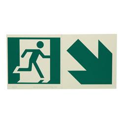 LumAware Photoluminescent Modular Running Man Sign with Arrow, 6 in x 6 in