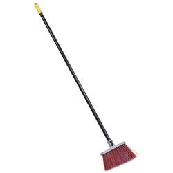 Quickie Bulldozer Landscaper's Upright Broom, 48 in Handle, 4 in Bristles, Red/Gray