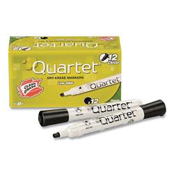 Quartet Low-Odor Dry-Erase Marker, Broad Chisel Tip, Black, Dozen