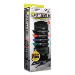 Quartet EnduraGlide Dry Erase Marker Kit, Board Caddy, Board Eraser and 6 Broad Chisel-Tip, Assorted-Color Markers