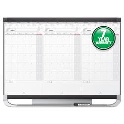 Quartet® Prestige 2 Total Erase 3-Month Calendar Board, 36 x 24, White, Graphite Frame