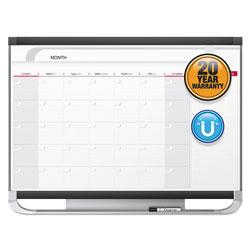 Quartet® Prestige 2 Magnetic Total Erase Monthly Calendar, 36 x 24, Graphite Color Frame