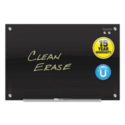Quartet® Infinity Black Glass Magnetic Marker Board, 72 x 48