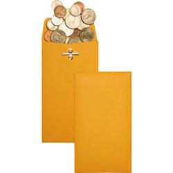 """Quality Park Gummed Clasp Envelope, 28Lb, 3 3/8""""x6"""", 100/BX, Kraft"""