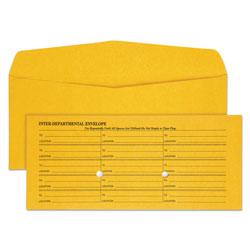 Quality Park Light Brown Fold Flap Kraft Trade Size Interoffice Envelope, One-Sided Box-Style Format, 4.5 x 10.38, Brown Kraft, 500/Box