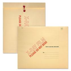 Quality Park X-Ray Film Mailer, Square Flap, String & Button Closure, 18 x 15, Manila, 100/Carton