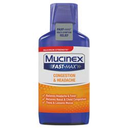 Mucinex Maximum Strength Fast Max Cold & Sinus, 6oz Bottle,