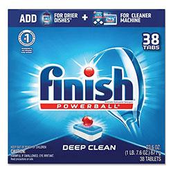Finish® Powerball Dishwasher Tabs, Fresh Scent, 38/Box