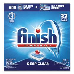 Finish® Powerball Dishwasher Tabs, Fresh Scent, 32/Box