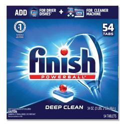 Finish® Powerball Dishwasher Tabs, Fresh Scent, 54/Box