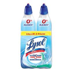 Lysol Toilet Bowl Cleaner w/Hydrogen Peroxide, Cool Spring Breeze, 24 oz, 2/PK, 4PK/CT