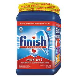 Finish® Powerball Max in 1 Dishwasher Tabs, Regular Scent, 88 Tablets/PK, 2 Packs/Carton