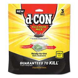 d-Con® Disposable Bait Station, 3w x 3d x 1 1/4h, 6/Carton