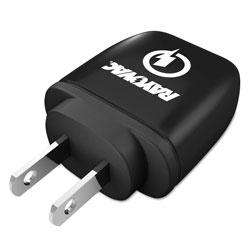 Rayovac Single USB Wall Charger, 1 USB Port, Black