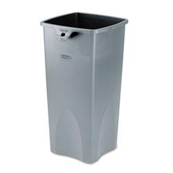 Rubbermaid Untouchable® Square Plastic Indoor Trash Can, 23 Gallon, Gray
