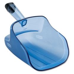 Rubbermaid Hand-Guard Scoop, 74oz, Transparent Blue