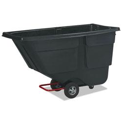 Rubbermaid Rotomolded Tilt Truck, Rectangular, Plastic, 600lb Cap, Black
