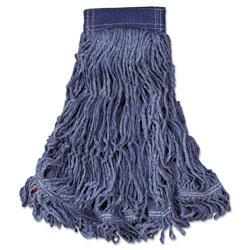Rubbermaid Swinger Loop Wet Mop Head, X-Large, Cotton/Synthetic, Blue, 6/Carton