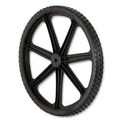 Rubbermaid Wheel for 5642, 5642-61 Big Wheel Cart, 20 in diameter, Black
