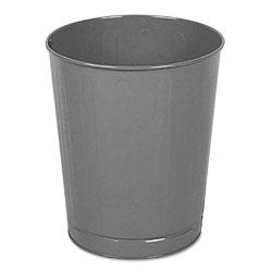 Rubbermaid Fire-Safe Wastebasket, Round, Steel, 6.5 gal, Gray