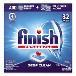 Finish® Powerball Dishwasher Tabs, Fresh Scent, 32/Box, 8 Boxes/Carton