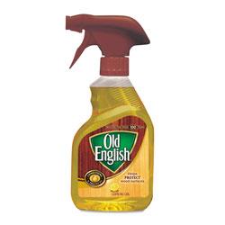 Old English Lemon Oil, Furniture Polish, 12oz, Spray Bottle, 6/Carton