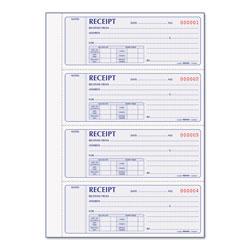 Rediform Receipt Book, 7 x 2 3/4, Carbonless Duplicate, 400 Sets/Book