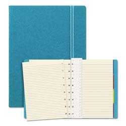 Filofax Notebook, 1 Subject, Medium/College Rule, Aqua Cover, 8.25 x 5.81, 112 Sheets