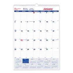 Brownline One Month Per Page Twin Wirebound Wall Calendar, 12 x 17, 2021