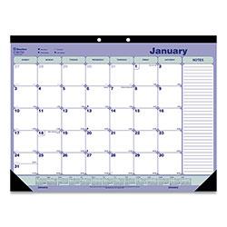 Rediform Desk Pad Calendar, 21.25 x 16, Blue/White/Green, 2021