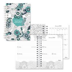 Blueline Doodleplan Weekly/Monthly Planner, 8 x 5, Botanica, 2021