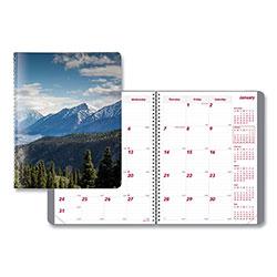 Brownline Mountains 14-Month Planner, 11 x 8.5, Blue/Green/Black, 2021
