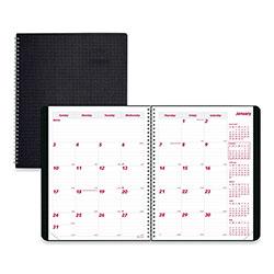 Brownline DuraFlex 14-Month Planner, 11 x 8.5, Black, 2021