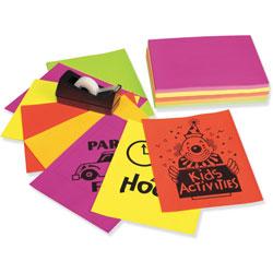 "Riverside Paper Neon Bond Paper, 24 lb., 250 Sheets, 8 1/2""x11"", Assorted"
