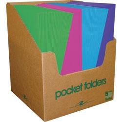 Roaring Spring Paper Two Pocket Pocket Folder, Assorted Colors, Case of 100