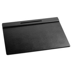 Rolodex Wood Tone Desk Pad, Black, 21 x 18