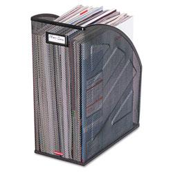 Rolodex Nestable Rolled Mesh Steel Jumbo Magazine File, 6 1/2 x 10 x 12 1/2, Black