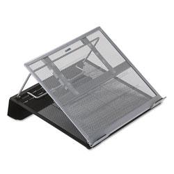 Rolodex Laptop Stand/Holder, 13w x 11 3/4d x 6 3/4h, Black/Silver