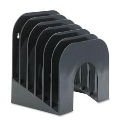 Rubbermaid Six-Tier Jumbo Incline Sorter, Plastic, 9 3/8 x 10 1/2 x 7 3/8, Black