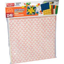 Roylco Quilt Blocks, 8-1/2 inWx8-1/2 inH, 1146/PK, Assorted