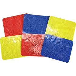 Roylco Junior Rubbing Plates, 8-1/2 inWx11 inH, 6/PK, Assorted