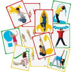 Roylco Body Poetry Yoga Cards, 8-1/2 in x 11 in, 16/PK, Assorted