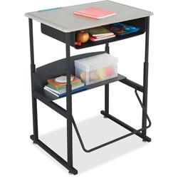 Safco Alphabetter Desks With Book Box, 28 x 20 x 42, Beige