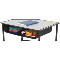 Safco Alphabetter Steel Book Box Desk, 22 in x 15 in x 4-3/4 in, Black