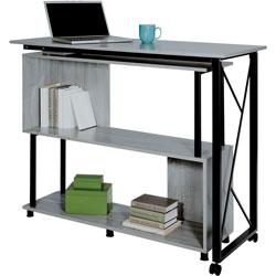 Safco Standing Desk, Mobile, Box 1/2, 53-1/4 inx21-3/4 inx42-1/4 in, Gray