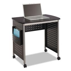 Safco Scoot Computer Desk, 32.25w x 22d x 30.5h, Black/Silver
