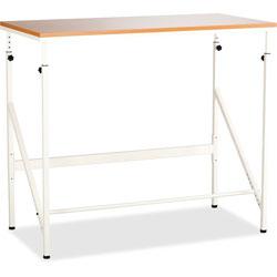 Safco Standing Height Desk, 48w x 24d x 50h, Beech/Cream