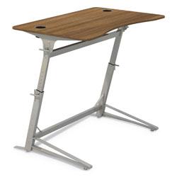 Safco Verve Standing Desk, 47.25w x 31.75d x 42h, Walnut