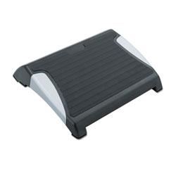Safco Restease Adjustable Footrest, 15.5w x 13.75d x 3.25 to 5h, Black/Silver